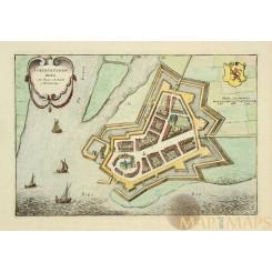Geertruidenberg Holland Antique plan by Joan Blaeu 1649