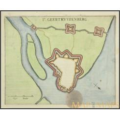 ST. GEERTRUYDENBERG Antique plan Geertrudis Berge by Joan Blaeu 1649