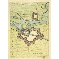 SAS VAN GENT Antique plan Sassa five by Joan Blaeu 1649