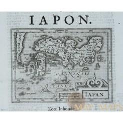 Kingdom Japon Rare antique map Konings van IAPON de Clerck 1621