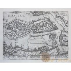 Siege of Zierikzee Holland Ziericzee Eighty Years War Hogenberg 1574