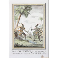 Headhunters Indonesia Old Print Alfoer hunters Bellin 1754