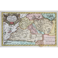 AFRICA - CANARY ISLANDS - OLD MAP SANSON MERCATOR 1683-1734
