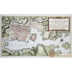 Kyisho Island Nangasaki Old VOC Plan Japan Bellin 1752