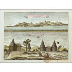 Sierra Leona mountain landscape views old print Bellin 1746
