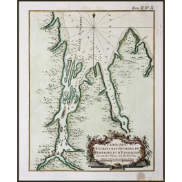 Demerara River Guyana antique map Bellin 1773