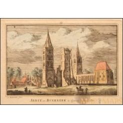 Egmond Buerkerk Holland antique engraving 1730