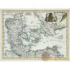 Denemark Royaume de Danemarck Le Rouge map 1746