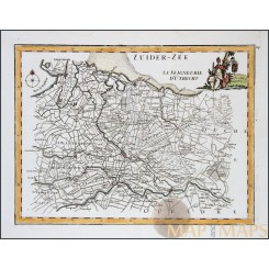 Bishopric of Utrecht old map La Seigneurie D'Utrecht Le Rouge 1748