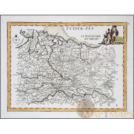 BISHOP UTRECHT HOLLAND Old map La Seigneurie D'Utrecht LE ROUGE 1748
