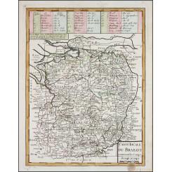 Brabant Limburg Belgium Holland old map Le Rouge 1748