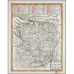 Duchy of Brabant, Old map Carte Ideale du Brabant Le Rouge 1747