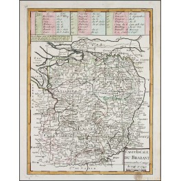 Brabant Limburg Belgium Holland old map Le Rouge 1748