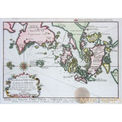 China maps. Cheu-Chan - Zhejiang,(Che-Kiang Bellin 1754