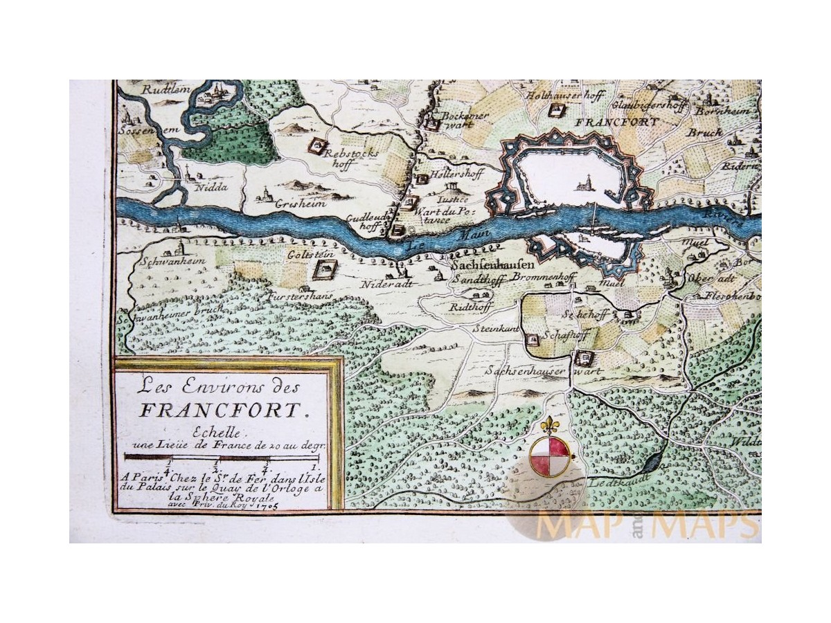 Frankfurt Germany Fortified city of Francfort de Fer 1705