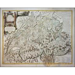 Switzerland Carte de la Suisse Old map by François Grasset 1769
