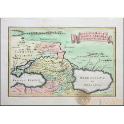 Bosporus Maeotis Iberia Albania Et Sarmatia Asiatica Old map Cellarius 1771