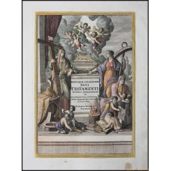 Title page Historiae Celebriores Novi ANTIQUE ENGRAVING Weigel 1712