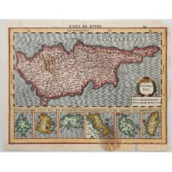 L'Isle de Cypre – Cyprus Ins + Greek Islands Mercator 1630