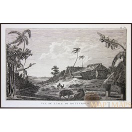 ISLE OF PINES-NEW CALEDONIA-VOYAGE JAMES COOK, OLD ENGRAVING, CAPTAIN COOK 1780