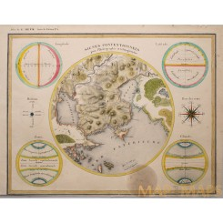 Hydrography old map Climate of the World Heck 1842