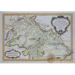 Asia map, Carte De L'Indoustan Suivant Bellin Map 1752