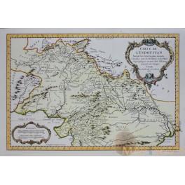 Carte De L'indoustan Suivant Les Cartes - Bellin map 1752