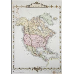 North and Central America Canada old map by Tallis 1851