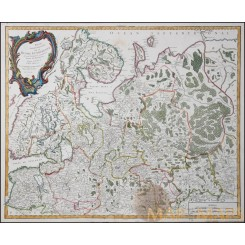 Russie Europeenne Antique map Russia Vaugondy 1753