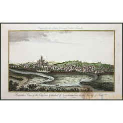Fine antique print, A View of Canterbury, Kent, by Harrison 1779