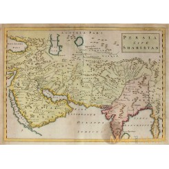 1747 ORIENS, PERSIA, INDIA map Christophorus Cellarius