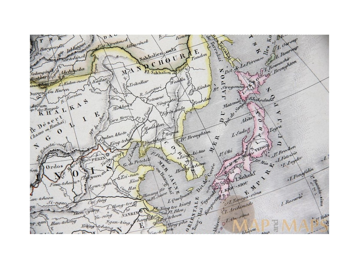 Map Of Asia Un.Details About Asia Continent Old Atlas Map By Migeon 1884