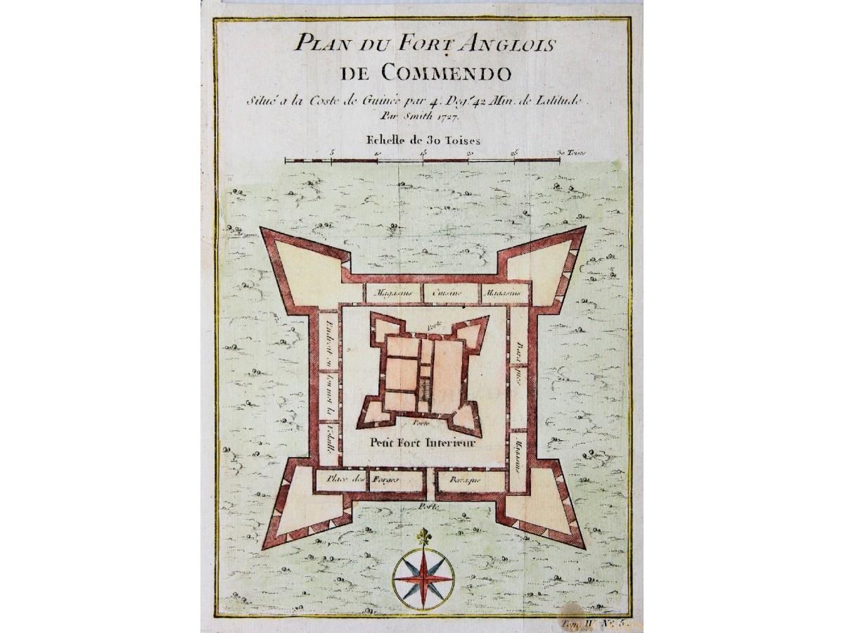 Anglois fort de commendo fort komenda ghana map bellin 1747