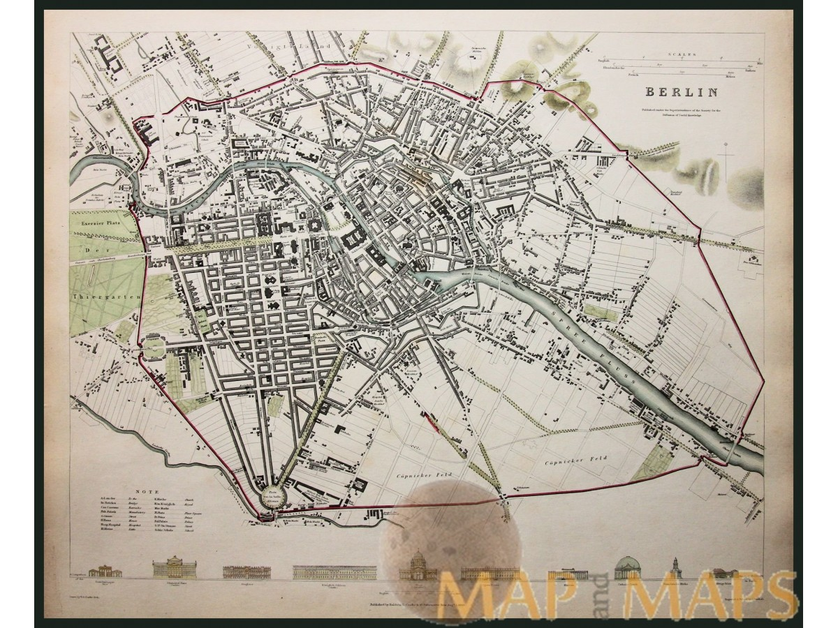 Berlin Map Of Germany.Berlin Old Map Germany Baldwin Cradock Mapandmaps