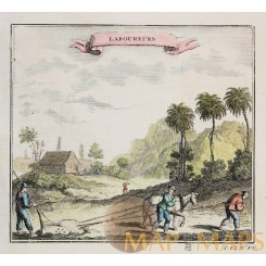 Laboureurs Chinees farmworkers mapmaker Bellin 1750