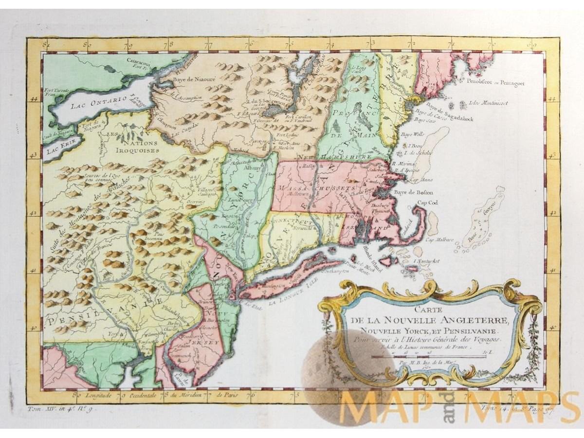 Carte Angleterre Maps.Carte De La Nouvelle Angleterre Nouvelle Yorck M M