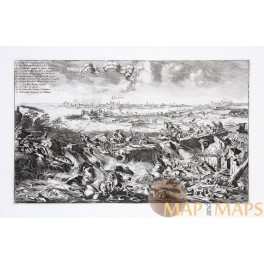 Fortress of Coevorden antique etching Valckenier 1675