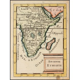 AFRICA ANCIENT ETHIOPIA OLD MAP BY MALLET 1683
