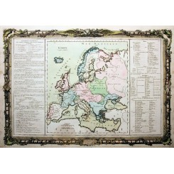 Souverainetes de L'Europe Old map Europe by Desnos 1761