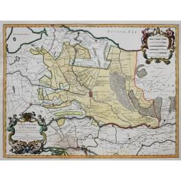 La Seigneurie D' Utrecht Old map diocese Utrecht Holland Sanson/Jaillot 1748