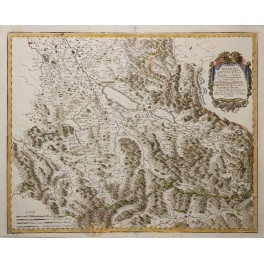 Antique map Switzerland, Swiss, Canton de Berne by Sanson 1666.