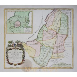 Terre des fils de Chanaan Holy Land old map Sanson 1717