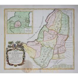 Holy Land Antique map TERRE DES FILS DE CANAAN Moullart Sanson 1717