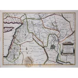 Arabia Babylonia Old Map ASSYRIA VETUS DIVISA IN SYRIAM Covens & Mortier 1725
