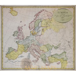 ANTIQUE MAP, THE ROMAN EMPIRE OF EUROPE, KRUSE HISTORICAL ATLAS EUROPE 1822