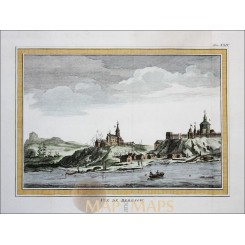 VIEW BEREZOV SIBERIA ANTIQUE PRINT VUE DE BERESOW OBLAST RUSSIA BELLIN 1758
