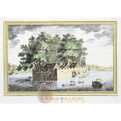 Great China print Fortress Kulu Wasserschloss Kulu Bellin 1764