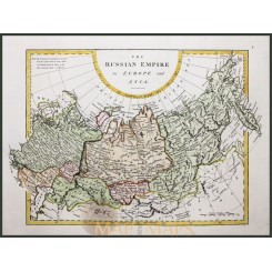 ANTIQUE MAP OF THE THE RUSSIAN EMPIRE IN EUROPE AND ASIA BY G.A. COOKE 1802