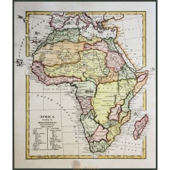 Old map Africa, including the Mediterranean Wilkinson 1794.