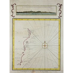 JAPAN COAST, VOYAGE JAMES COOK, ANTIQUE SEA MAP BY HOGG 1790